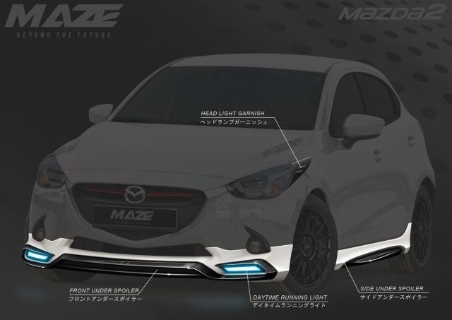 ชุดแต่ง Mazda รุ่น Mazda 2 By MAZE